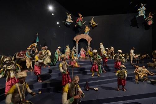 """Ausstellungsansicht """"Heilige Nacht. Die Weihnachtsgeschichte und ihre Bilderwelt"""" Foto: Liebieghaus Skulpturensammlung"""