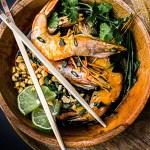 soupe miso crevette- quatre saisons au jardin