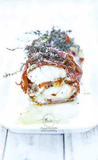 Rôti de Lotte au jambon cru