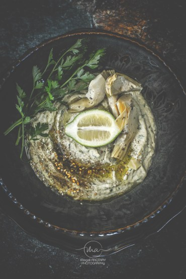 Houmous d'artichauts Magali ANCENAY Photographe Culinaire