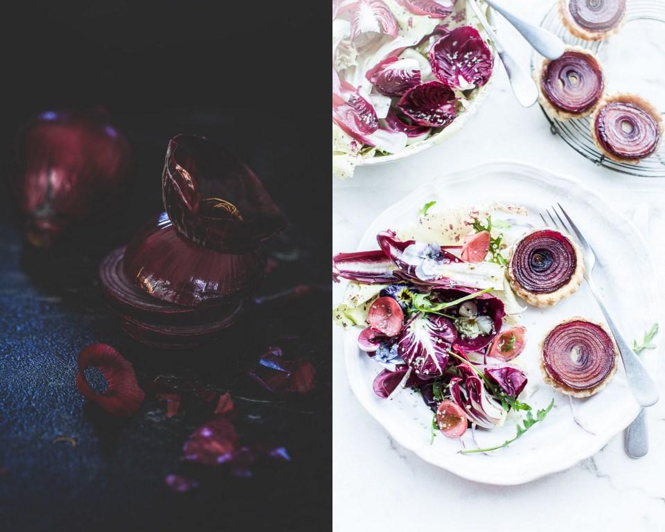 Tartelettes oignon rouge chèvre - Magali ANCENAY Photographe Culinaire