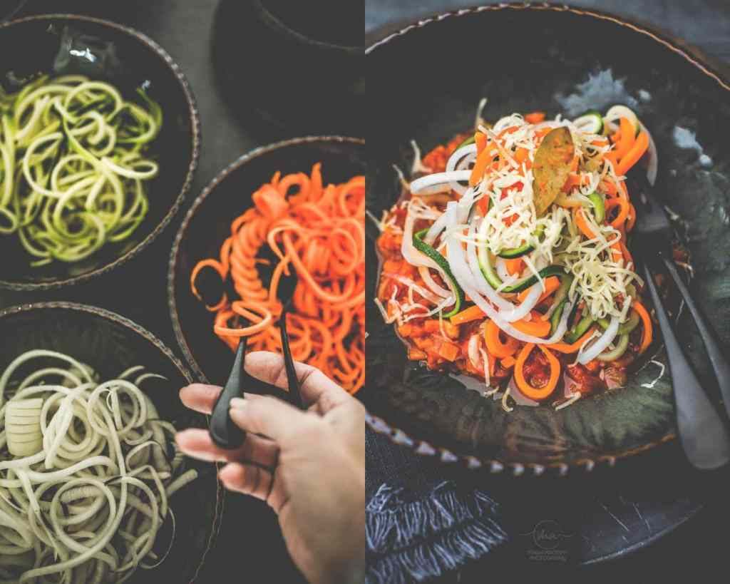 Spaghetti de légumes bolognaise version Végan - Magali ANCENAY Photographe CulinaireY Photographe Culinaire