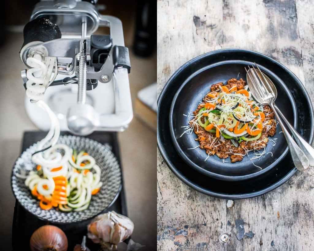 Spaghetti de légumes bolognaise version protéinée - Magali ANCENAY Photographe Culinaire