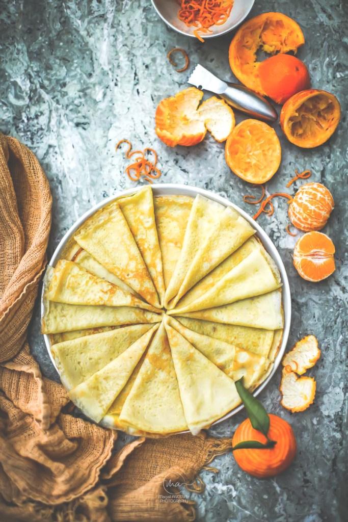 Crêpes flambées clémentine - Magali ANCENAY Photographe Culinaire