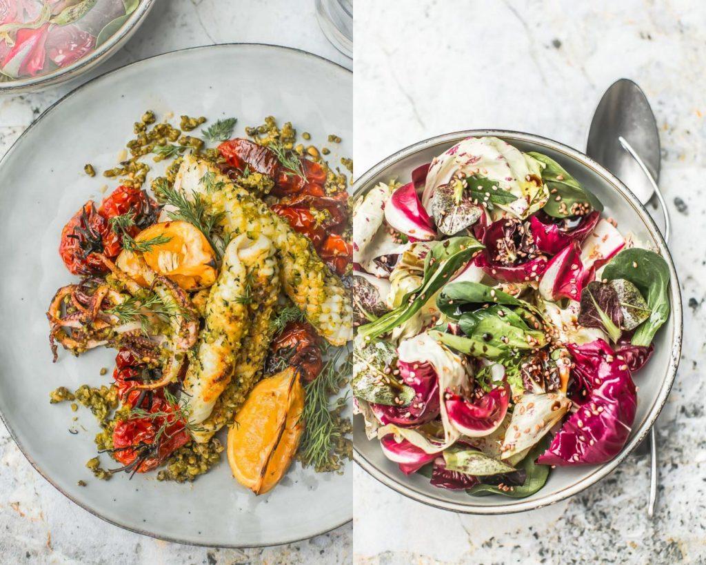 Salade de calamars grillés - Magali ANCENAY PHOTOGRAPHE Culinaire