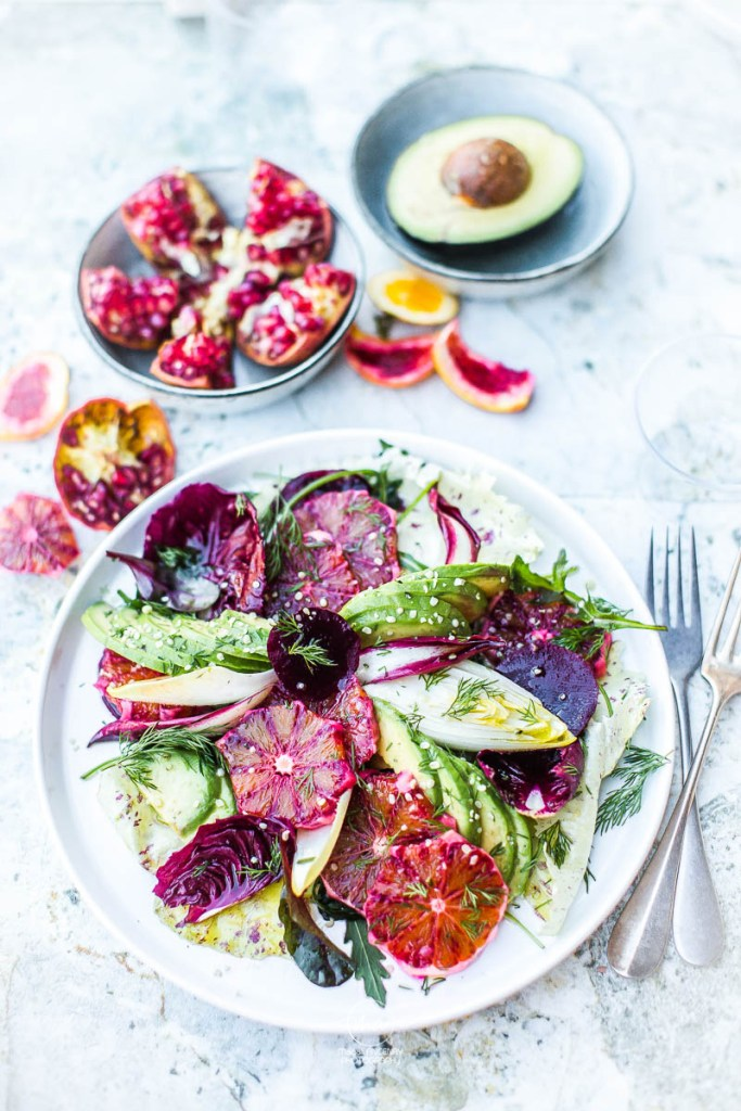Salade aux fruits d'hiver - Magali ANCENAY PHOTOGRAPHE Culinaire