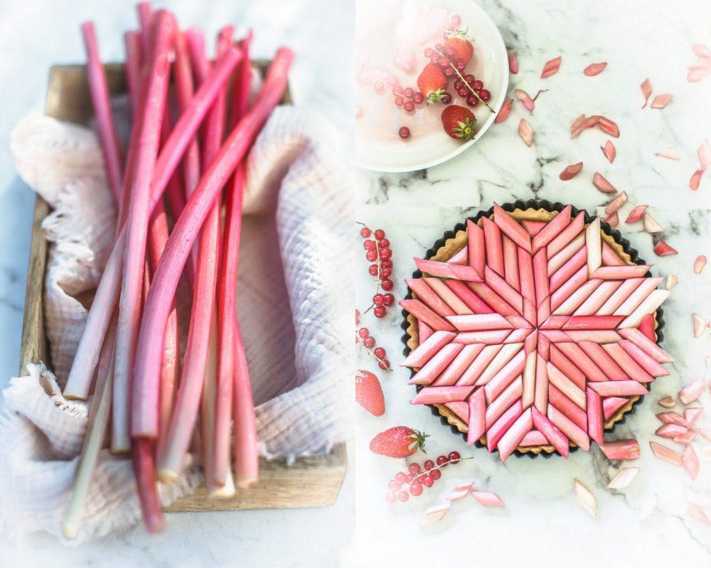 Recette de la tarte à la rhubarbe - Magali ANCENAY PHOTOGRAPHE Culinaire