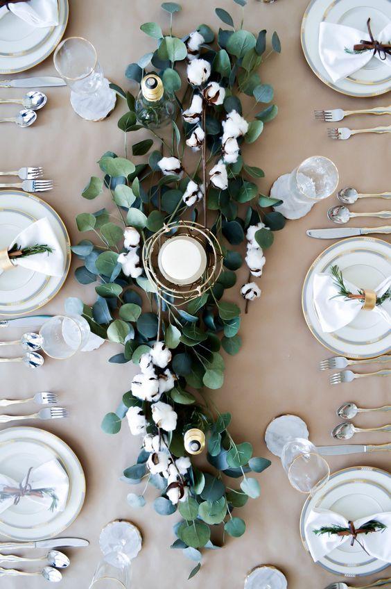 Eucalyptus en centre de table