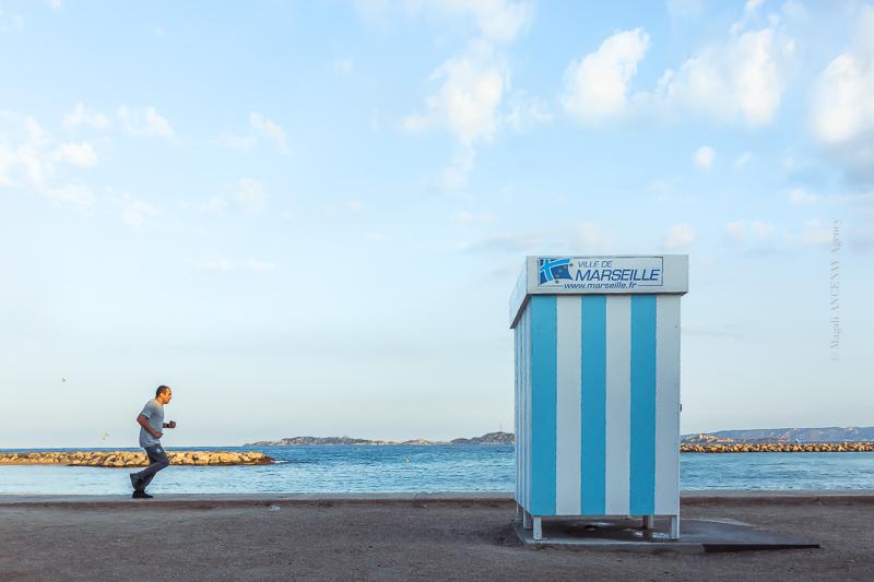Marseille, plage du Prado