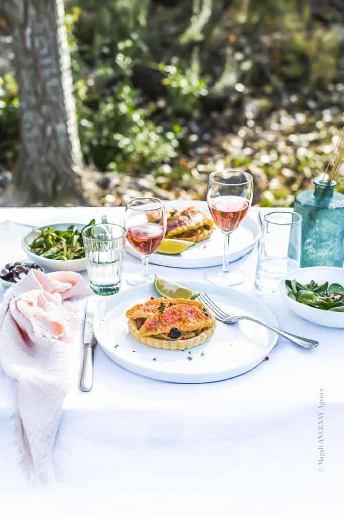 Tarte salée aux rougets façon pissaladière - Magali ANCENAY