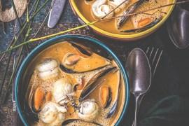 Turbans de sole, crème moules safran - Magali ANCENAY
