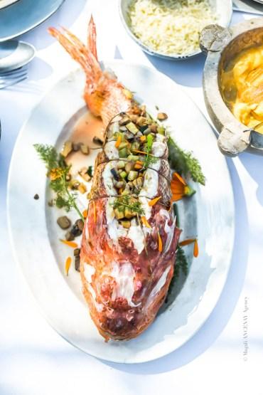 Chapon farci à la soupe de poisson - Magali ANCENAY