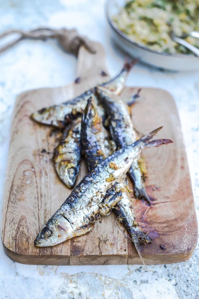 Sardines grillées au four, boulgour persillé - Magali ANCENAY