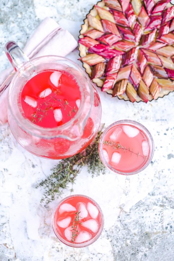 Eau parfumée à la rhubarbe - Magali ANCENAY