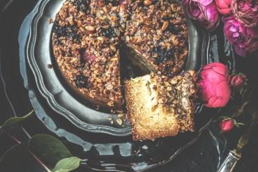 Gâteau granola fruits rouges et pomme