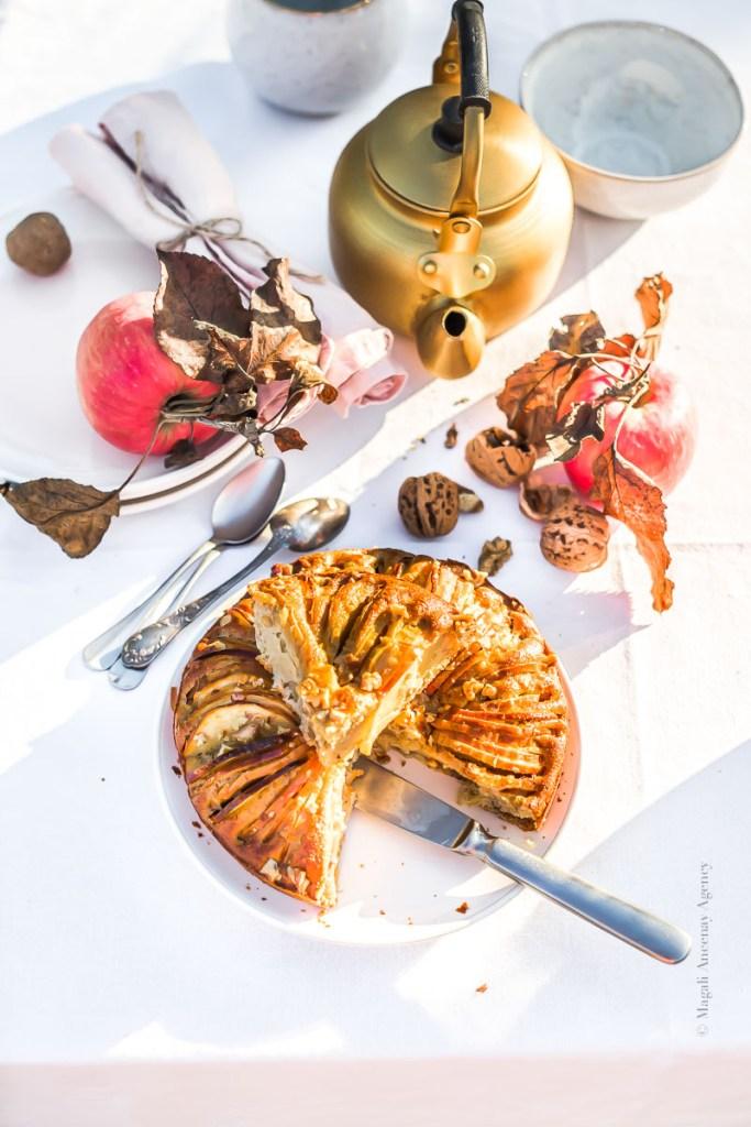 Gâteau pommes noix - Magali ANCENAY