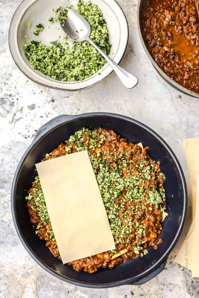 Montage des lasagnes - Magali Ancenay