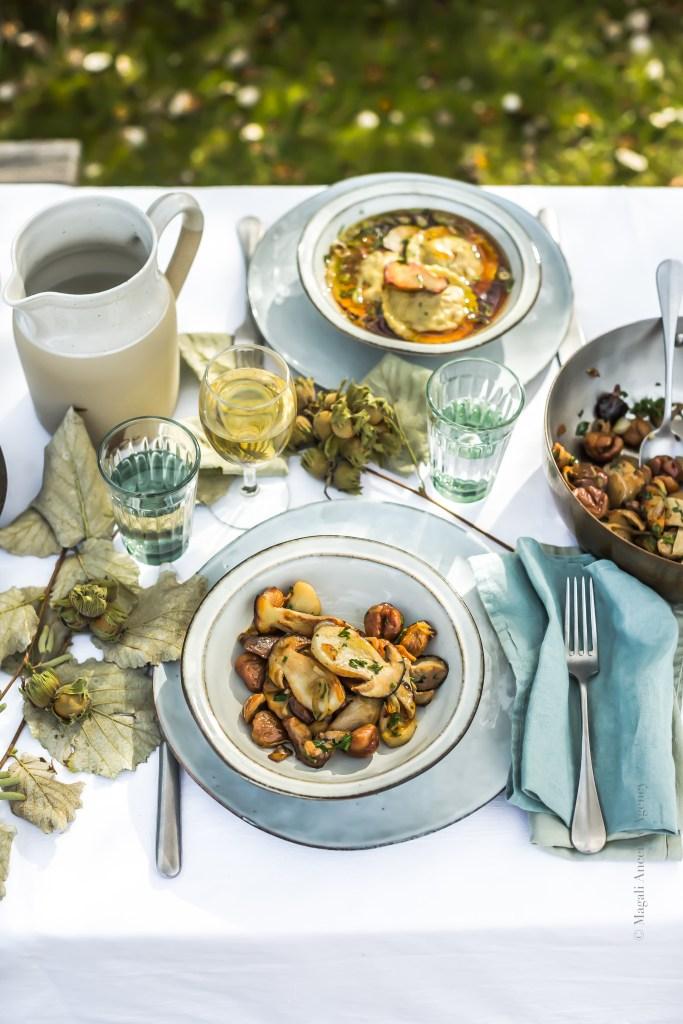 Poêlée de champignons et marrons - Magali ANCENAY