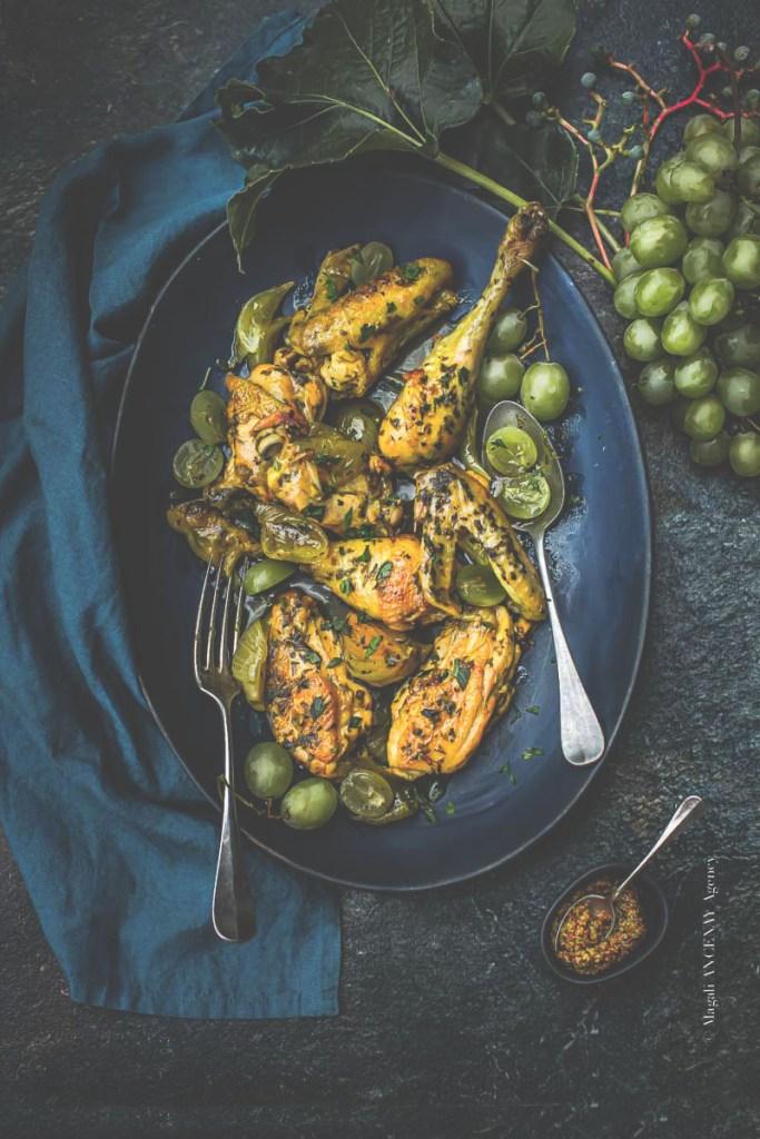 recette de confinement, le poulet aux raisins - Magali ANCENAY