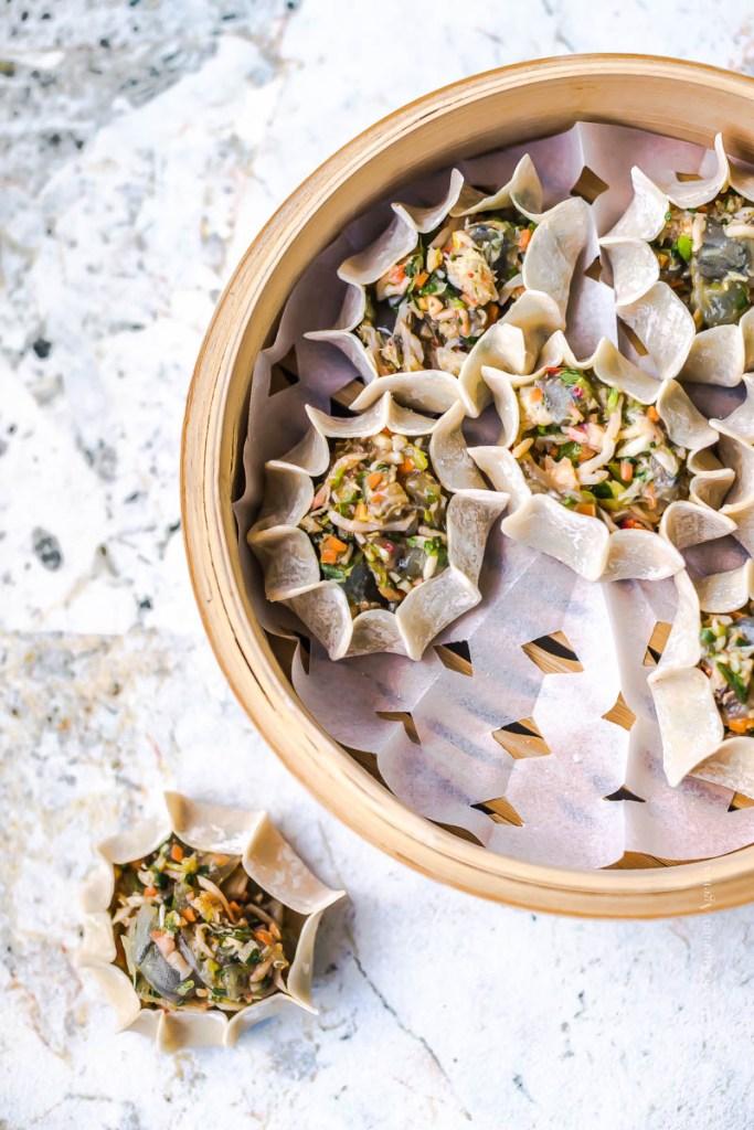 Bouchées vapeur crabe crevettes - Magali Ancenay