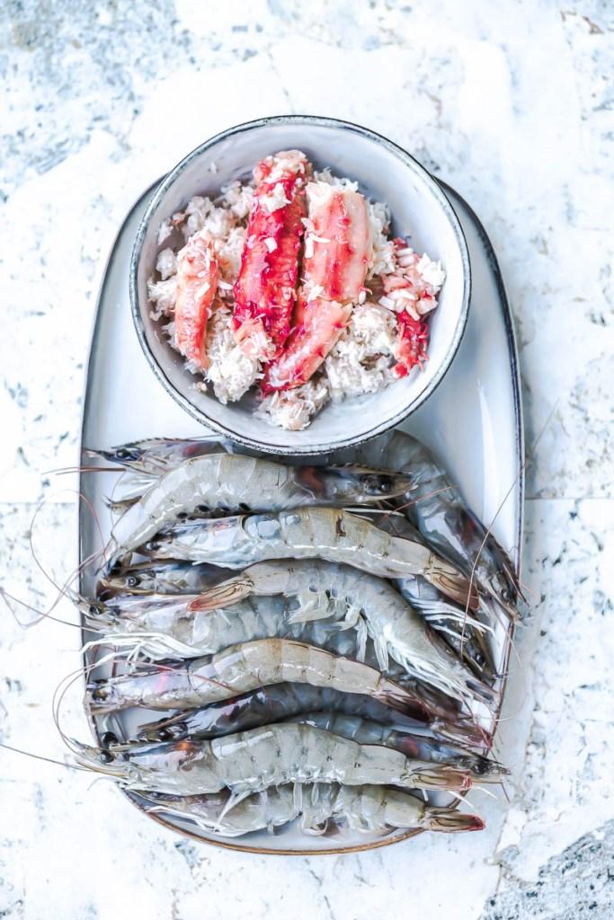 Crabe et crevettes - Magali Ancenay