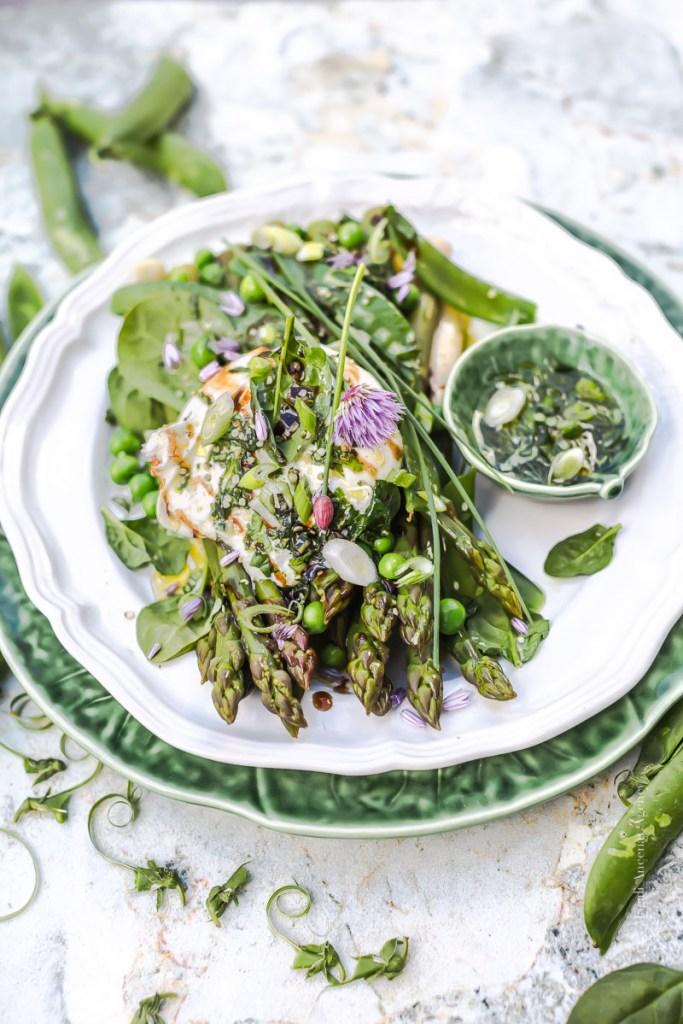 Mix de légumes verts, burrata à la Truffe d'été - Magali ANCENAY
