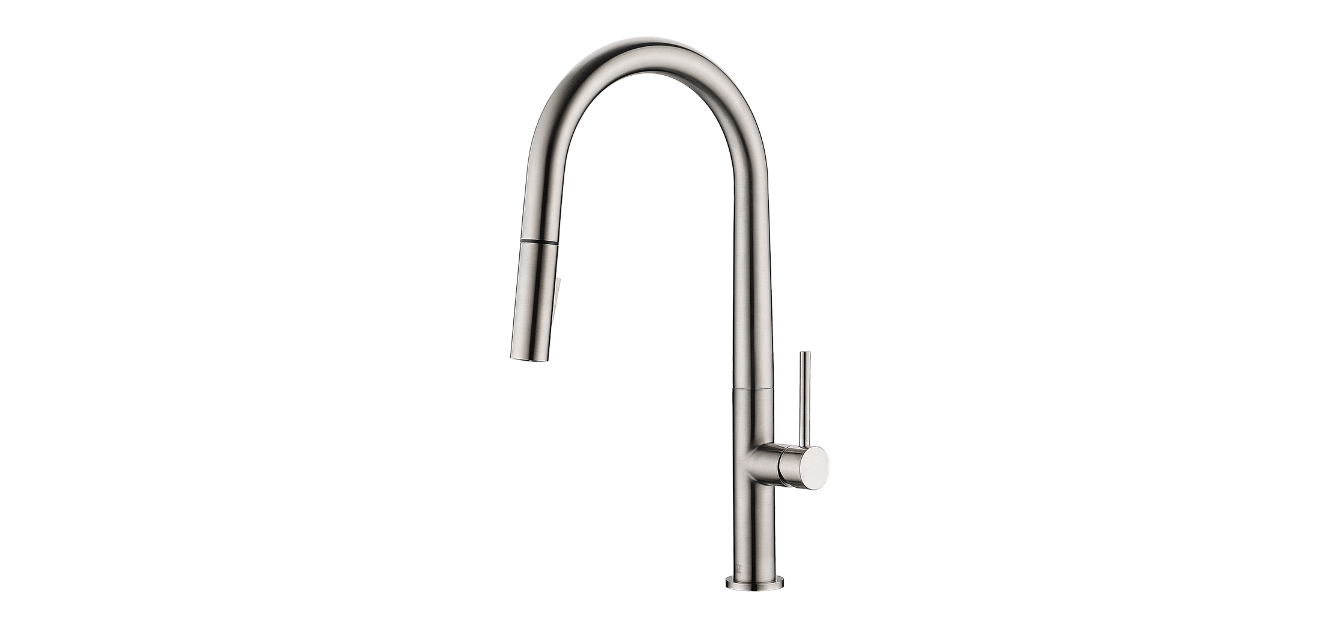 lennox brushed nickel kitchen faucet by pearl