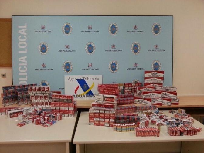 La Agencia Tributaria y la Policía Local de Córdoba intervienen unas 800 cajetillas de tabaco ilegal