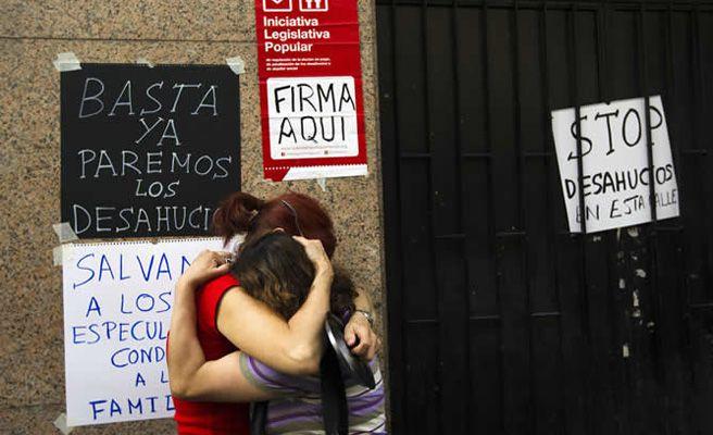 El Parlamento Europeo pide la dación en pago para las familias desahuciadas