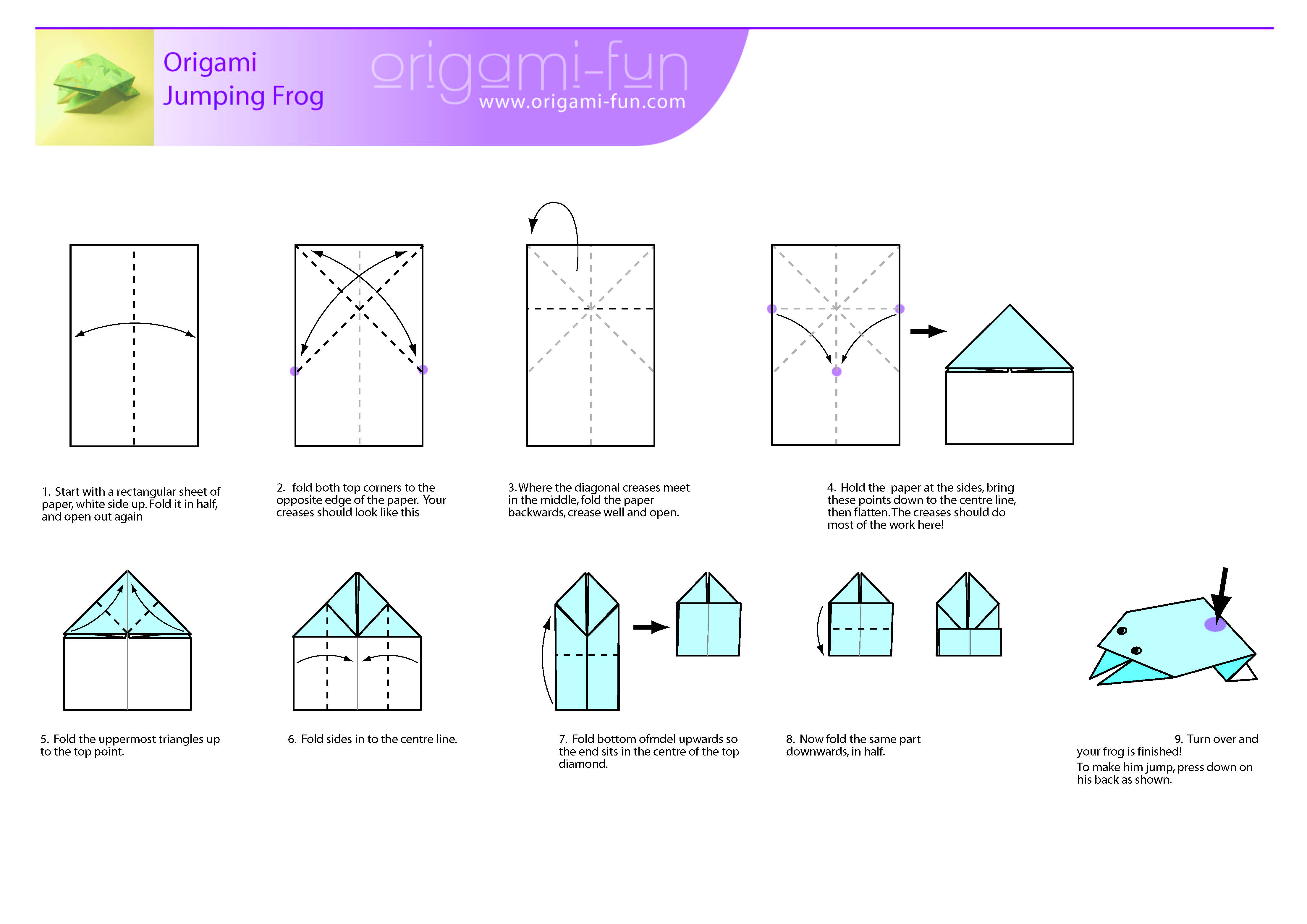 Best Templates Origami Frog Instructions Printable
