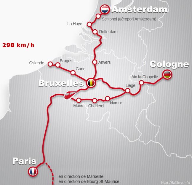 Le train effectuait le trajet Amsterdam - Paris.