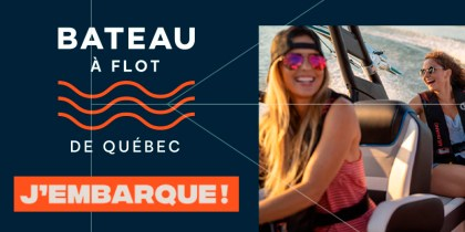 Boat afloat from Quebec and Montreal: I am on board!