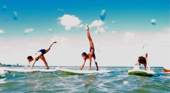 Stand-Up Paddle Yoga ('Surfboard' Yoga)
