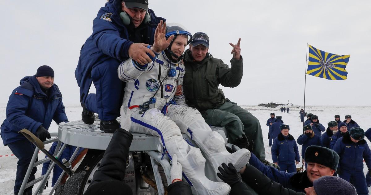 Tres astronautas regresan a la Tierra desde la Estación Espacial Internacional