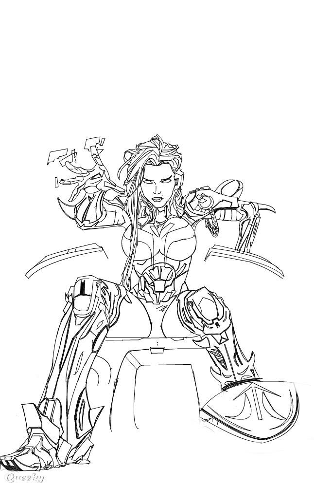 Commander Starfire A Fan Art Speedpaint Drawing By Imaus