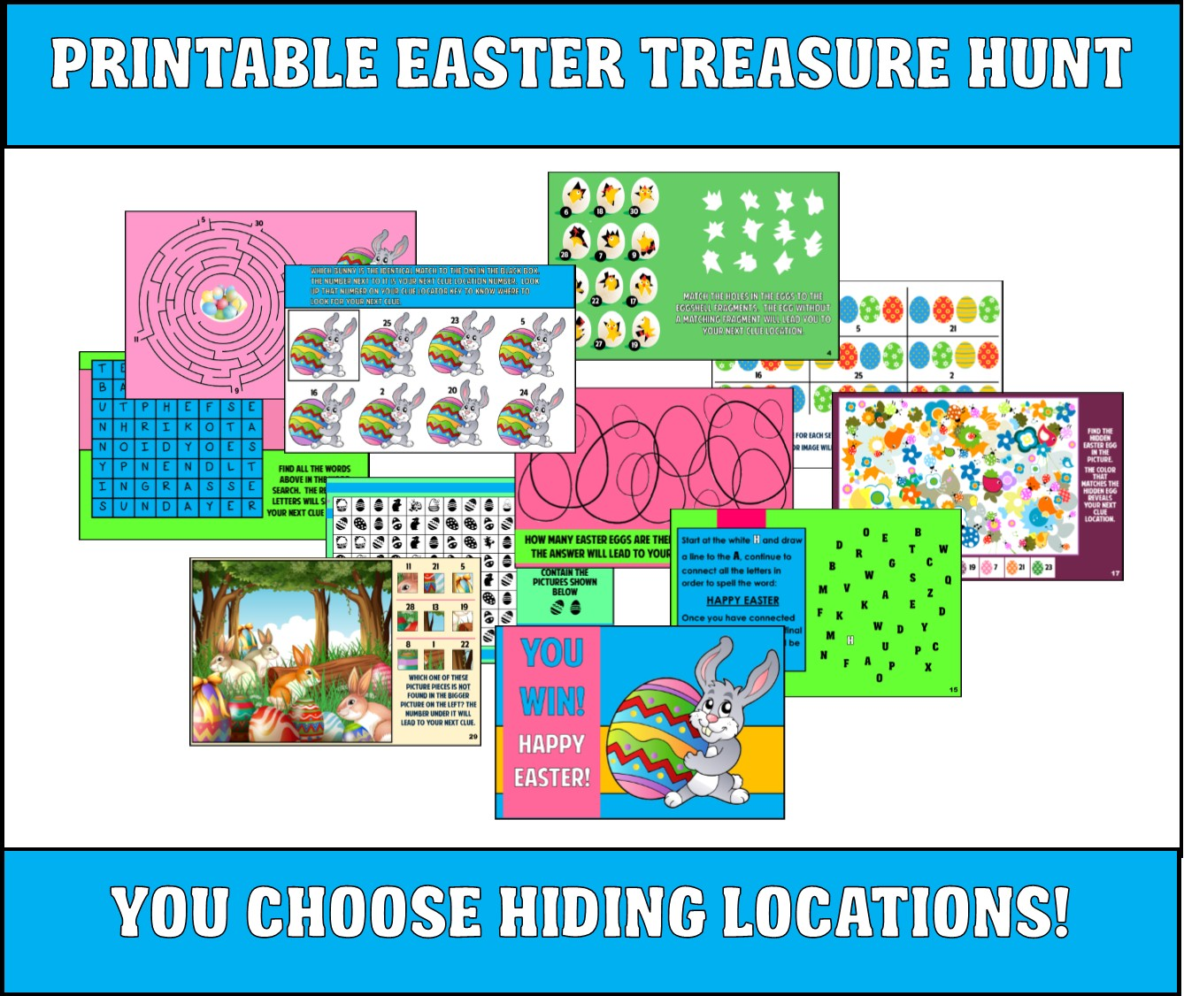 Printable Easter Treasure Hunt