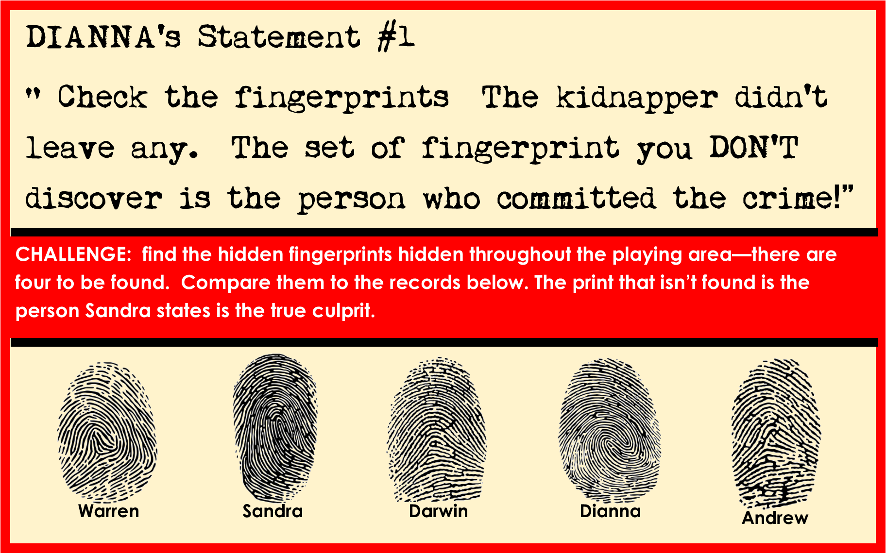 Solve The Mystery Games Printable