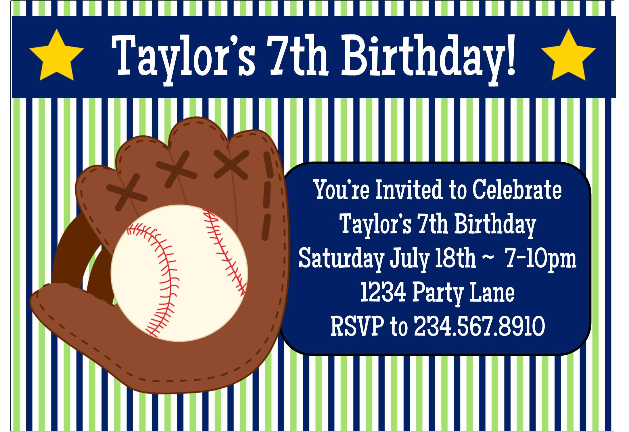 baseball birthday party game ideas