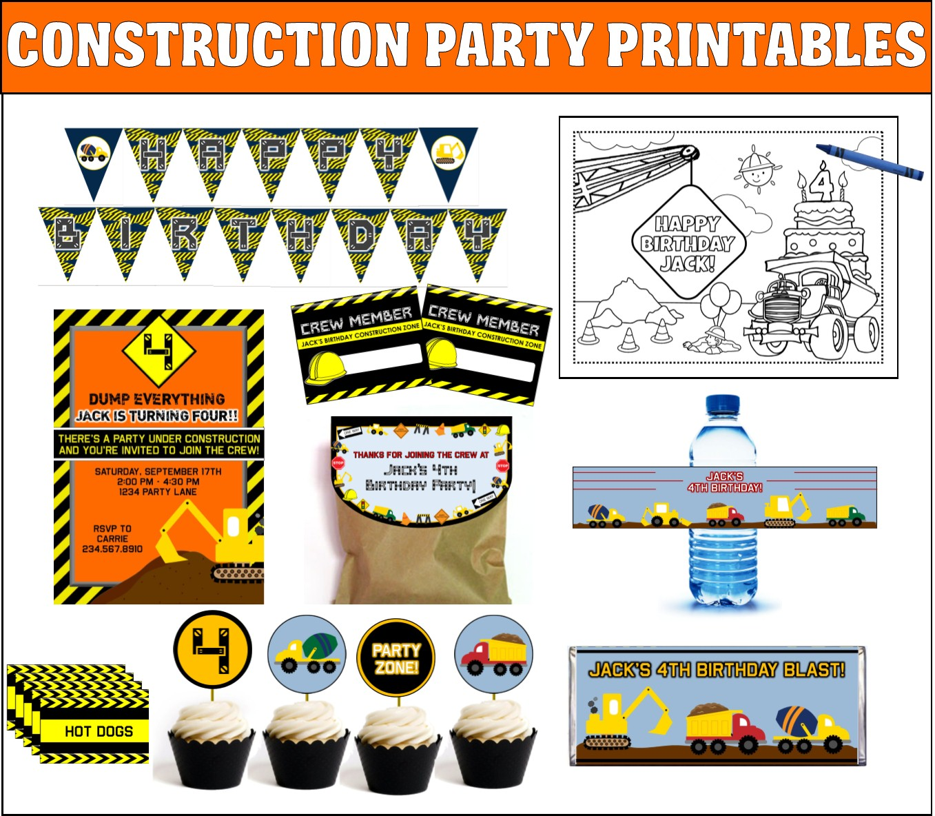 Top 10 Construction Party Theme Games Ideas And Activities For Kids