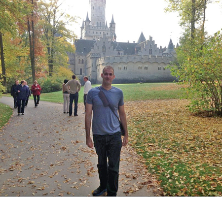 Joshua Crites (foreground) was in Hannover, Germany, two years ago for a three-week fellowship. He will travel to Hannover again next month for a 14-month fellowship. Photo courtesy of Joshua Crites