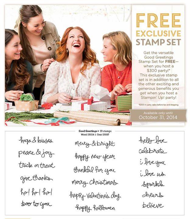 Get Good Greetings stamp set FREE