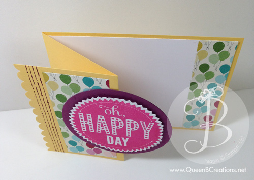 z fold birthday card top