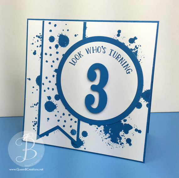 ppa288 by Queen B Creations using Stampin' Up! Gorgeous Grunge and Number of Years stamp sets and large numbers framelits