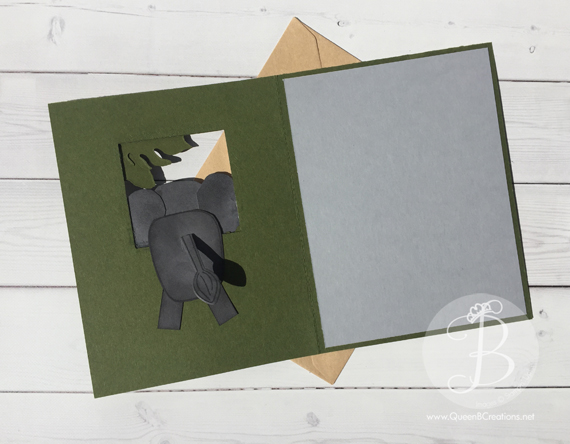 Peek-a-boo Elephant Stampin' Up! Playful Pals & Botanical Blooms by Queen B Creations