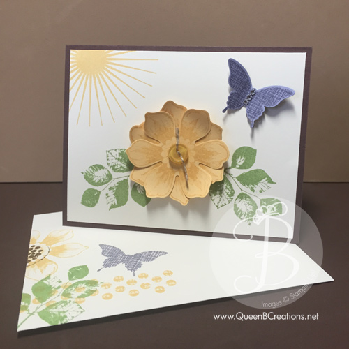 Stampin' Up! Kinda Eclectic Beautiful Bunch with punched out flower and butterfly