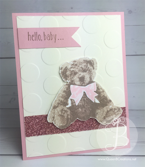 Stampin' Up! Baby Bear in Blushing Bride from the 2016-2017 Annual Catalog