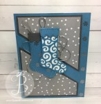 PPA324 sketch challenge using Stampin' Up! Hang Your Stocking stamp set and Christmas Stockings Thinlit dies by Queen B Creations
