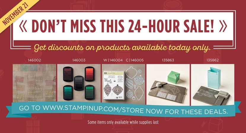 stampin' up! online extravaganza 24 hour sale