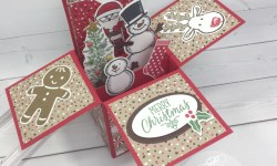 Cookie Cutter Christmas card in a box stampin up gift card holder by Queen B Creations handmade christmas card