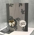 Squirrel in a tree made with the Stampin' Up! Fox Builder Punch by Queen B Creations #FMS276